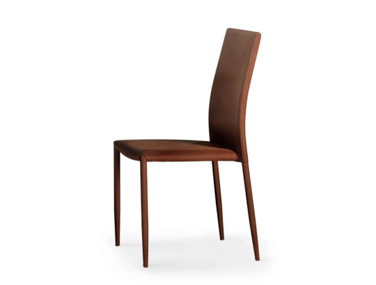 Brown fabric chair with metal structure Art.114