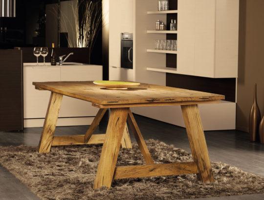 Aged solid oak table - Art.11