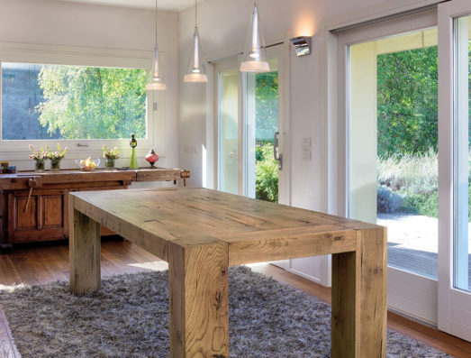 Aged solid oak table - Art.12