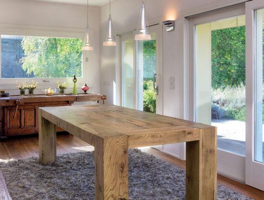 Aged solid oak table - Art.12