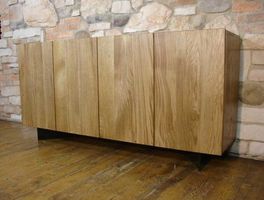 Handmade rustic Solid Oak Sideboard with four doors