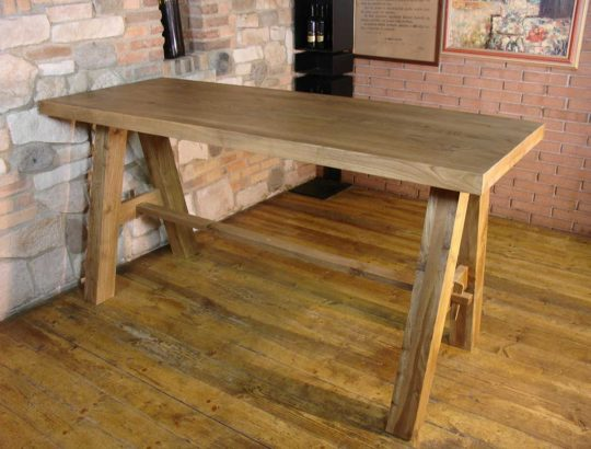 Aged Oak Table with trestle legs